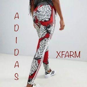 NWT Adidas X Farm Leggings Womens Pineapple